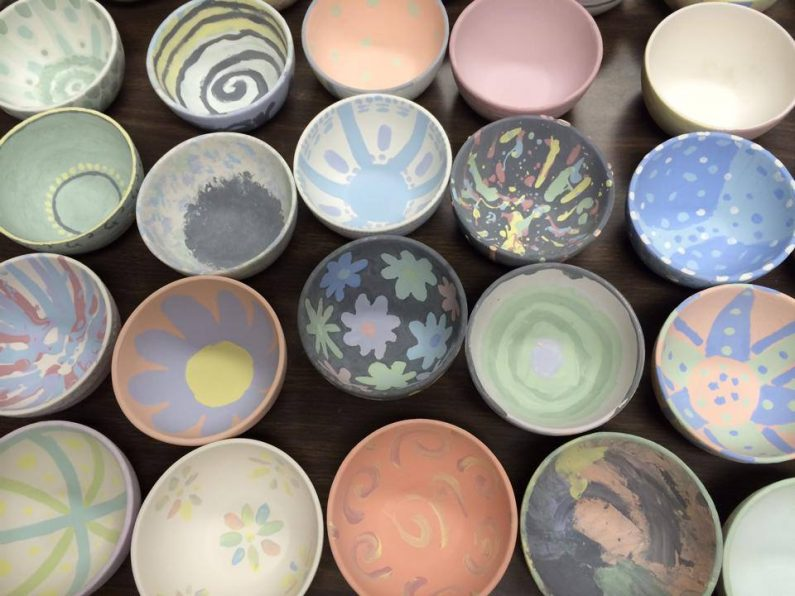 Empty Bowls Painted by QHS Students